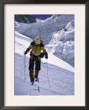 Crossing Ladders Through the Khumbu Ice Fall, Nepal Prints by Michael Brown