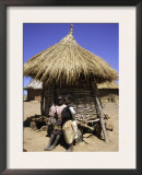 Children by Straw Huts, South Africa Poster by Ryan Ross