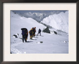 Climbing up Southside of Everest, Nepal Art by Michael Brown