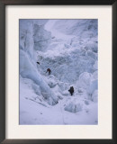 Climbing Khumbu Ice Fall, Nepal Posters by Michael Brown