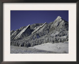 Winterscene of the Flatirons in Boulder, Colorado Posters by Dörte Pietron
