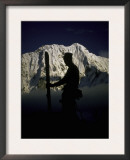Skier's Silhouette, Tibet Poster by Michael Brown
