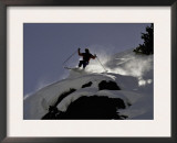 Skier Jumping, USA Art by Michael Brown