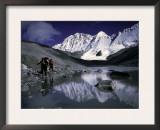 Trekking Shishapangma Area, Tibet Art by Michael Brown