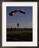 Skydiver Landing, USA Poster by Michael Brown