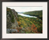 Porcupine Mountains Wilderness State Park in Autumn, Michigan, USA Prints by Larry Michael
