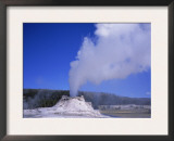 Castle Geyser Erupting, Yellowstone National Park, Wyoming, USA Art by David Kjaer