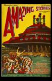 November 1926 Amazing Stories -HG Wells and Jules Verne Masterprint