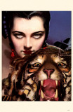 Lady with Tiger Masterprint