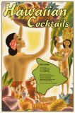 Hawaiian Cocktails Masterprint