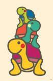Minoji Turtle Totem Masterprint