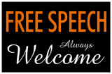 Free Speech Always Welcome Masterprint