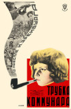 Russian Girl Smoking Pipe Masterprint