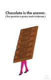 Chocolate is the Answer Masterprint