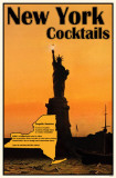 New York Cocktails Masterprint