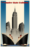 Empire State Building with Ships Masterprint