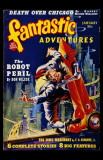 January 1940 - Fantastic Adventures--Robot Peril Masterprint