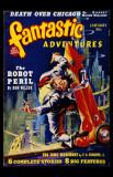 January 1940 - Fantastic Adventures--Robot Peril Masterprint