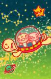 Minoji Space Turtle Masterprint