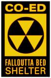 Co-Ed Falloutta Bed Shelter Masterprint