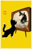 Cat Watching Fish Masterprint