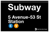Subway 5th Avenue Masterprint