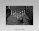 Bowling Ball with Pins Masterprint