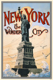 New York the Wonder City Statue of Liberty Masterprint