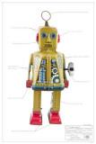 Sparky Robot Masterprint