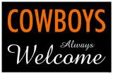 Cowboys Always Welcome Masterprint