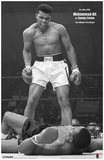 Ali vs Liston Black and White Reproduction image originale