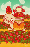 Minoji Strawberry Party Masterprint