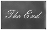 The End Film Leader Masterprint