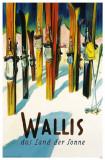 Wallis Ski Poster Masterprint