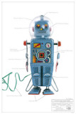 Domed Easel Back Robot Masterprint