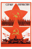Soviet Cavalry and Tanks Propaganda Masterprint