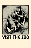Visit the Zoo 3 Penguins Masterprint