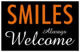 Smiles Always Welcome Masterprint