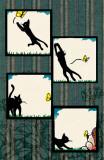 Ryo Takagi Cat and Butterfly Masterprint