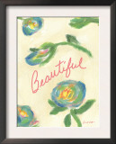 Beautiful Blooms Print by Flavia Weedn