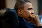 President Obama: Discussion of the mission against Osama bin Laden: Situation Room, May 1, 2011 Photographic Print