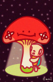 Minoji Mushroom Light Masterprint