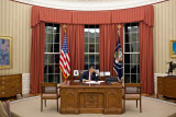 President Obama prior to televised statement of the mission against Osama bin Laden, May 1, 2011 Photographic Print