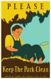 Please Keep the Park Clean Masterprint