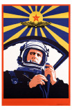 Soviet Spaceman Propaganda Lmina maestra