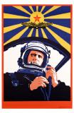 Soviet Spaceman Propaganda Masterprint