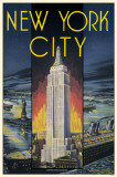 New York City Empire State Building Masterprint