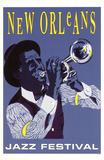 Festival de Jazz de Nueva Orleans Lámina maestra