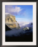 Winter Fog Surrounding El Capitan, Yosemite National Park, California, USA Prints by David Welling