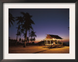 Rest House for Fishermen on Beach, Pamilacan Is, Philippines Prints by Jurgen Freund